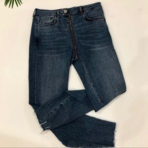 Forever 21 High waist zipper front ankle jeans